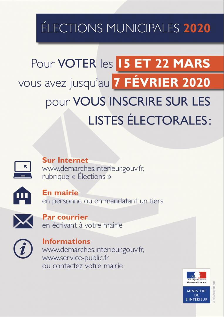 Incriptions élections