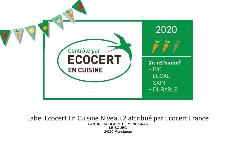 en cuisine - diplome niveau 2 - 2020